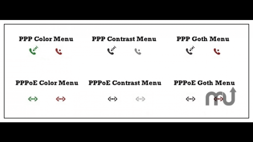 PPP/PPPoE Color Menu for Mac - review, screenshots