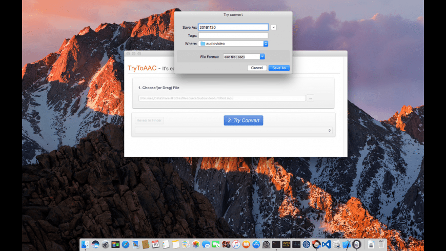 TryToAAC for Mac - review, screenshots