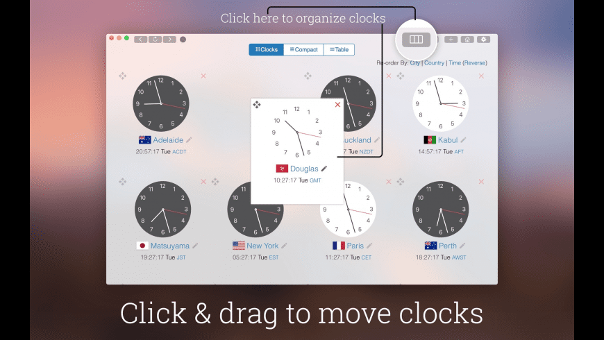 My World Clock for Mac - review, screenshots