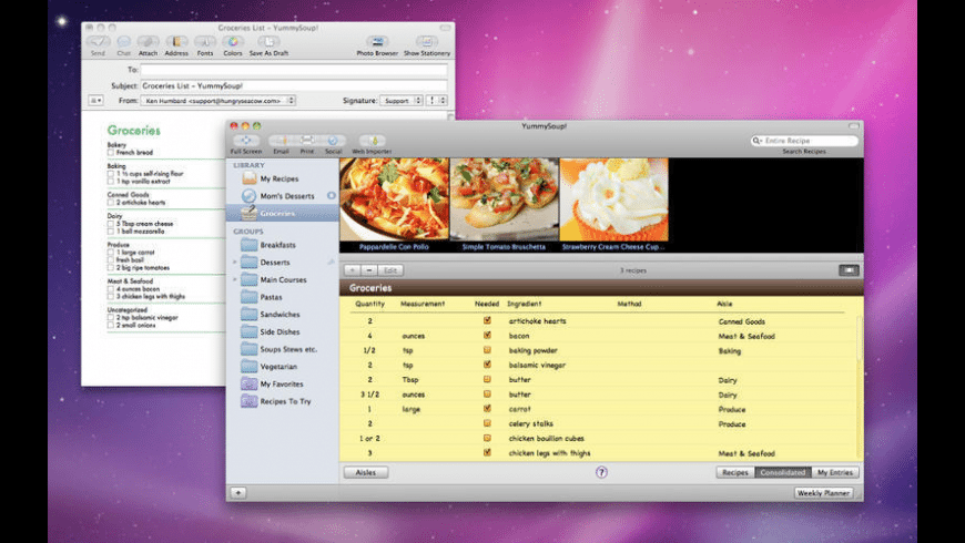 YummySoup! for Mac - review, screenshots