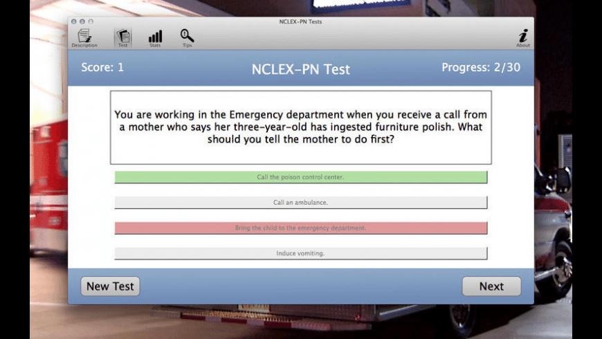 NCLEX-PN Tests for Mac - review, screenshots