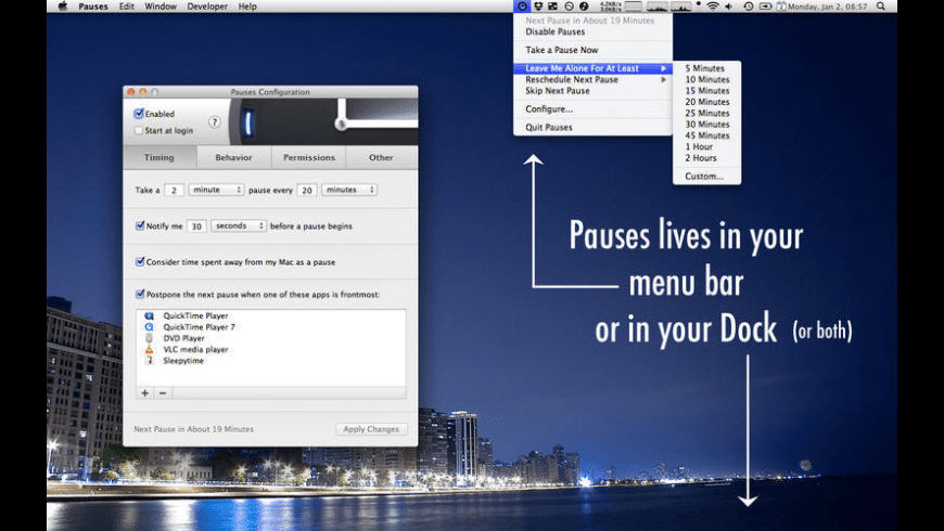 Pauses for Mac - review, screenshots