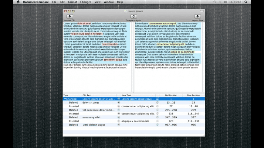 DocumentCompare for Mac - review, screenshots