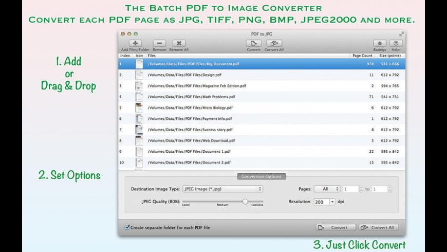 PDF to JPG for Mac - review, screenshots