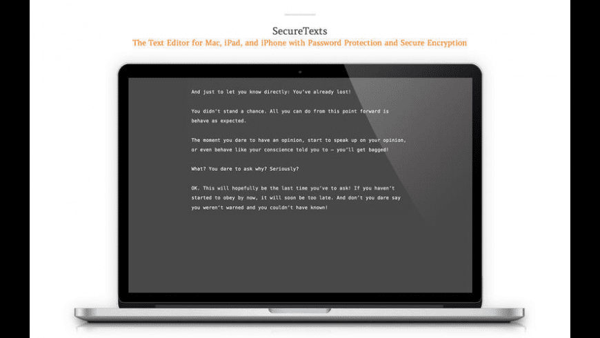 SecureTexts knapsack for Mac - review, screenshots