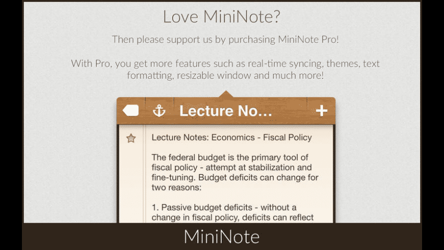 MiniNote for Mac - review, screenshots