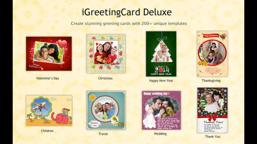 iGreetingCard Deluxe 2015 for Mac - review, screenshots