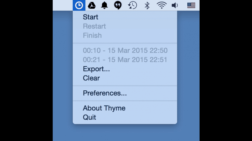 Thyme for Mac - review, screenshots