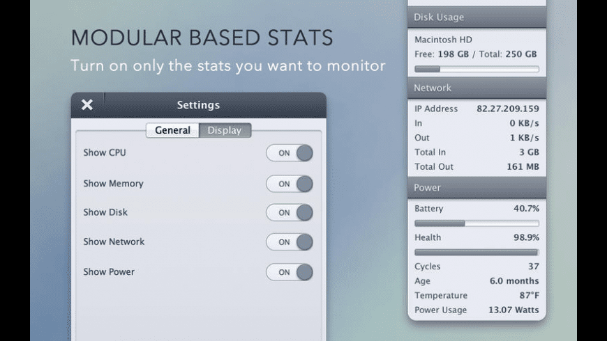 StatsBar for Mac - review, screenshots