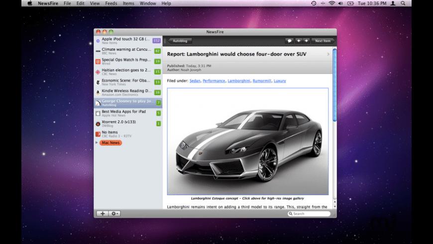 NewsFire for Mac - review, screenshots