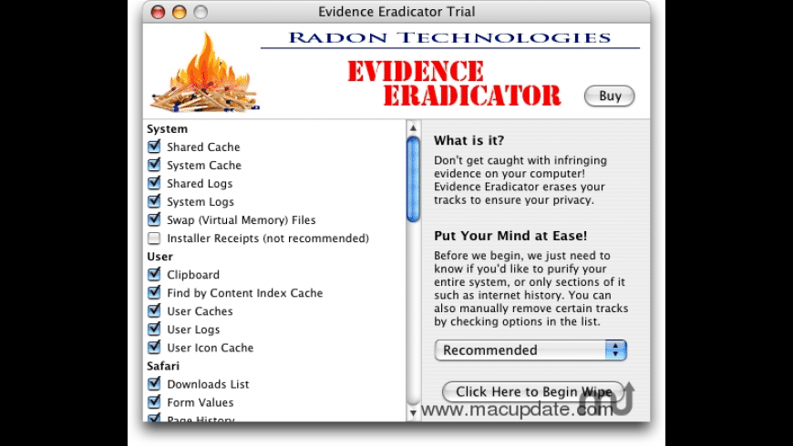 Evidence Eradicator for Mac - review, screenshots