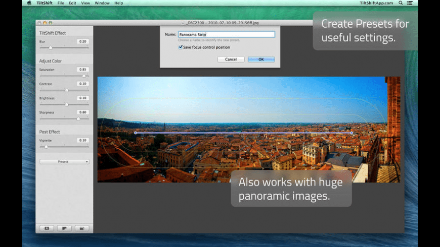 TiltShift for Mac - review, screenshots