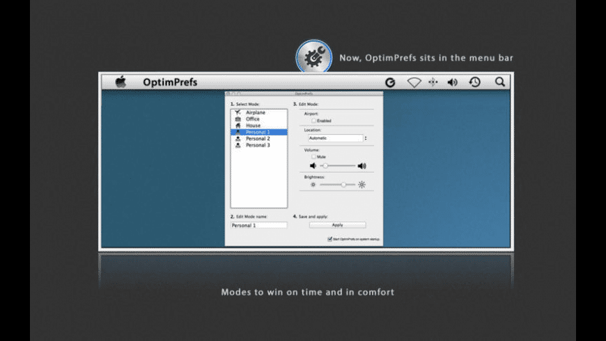 OptimPrefs for Mac - review, screenshots