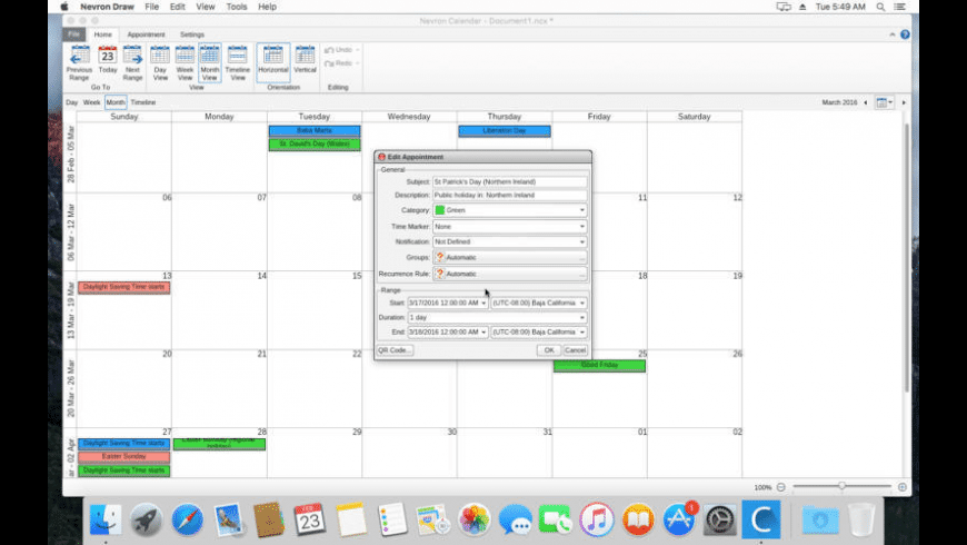 Nevron Calendar for Mac - review, screenshots
