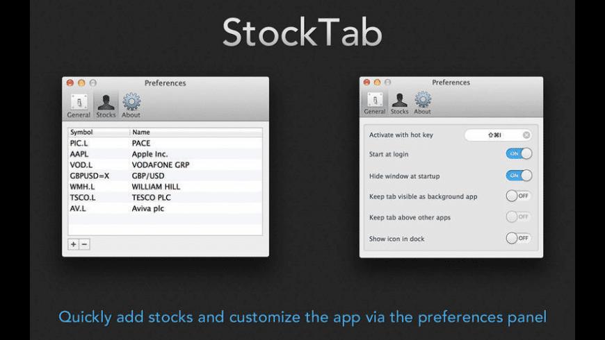 StockTab for Mac - review, screenshots