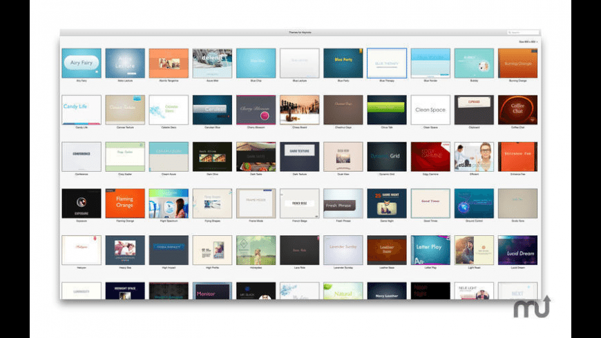 Themes for Keynote for Mac - review, screenshots