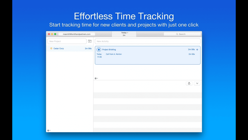 Caato Time Tracker+ for Mac - review, screenshots