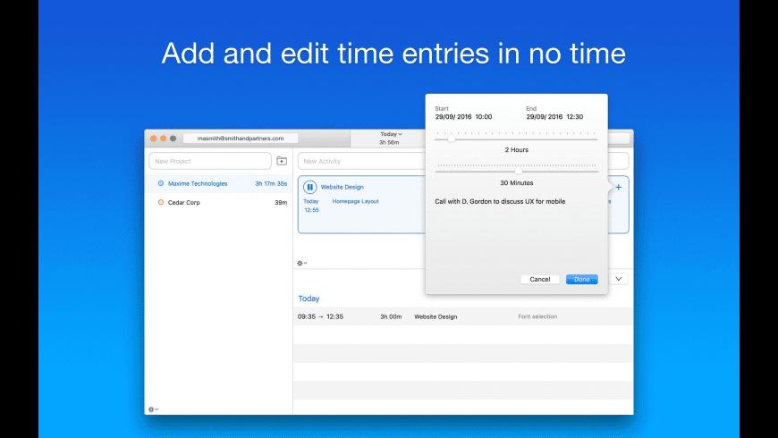 Caato Time Tracker+ for Mac - review, screenshots
