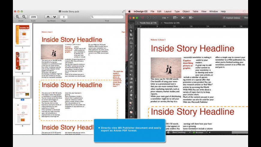Publisher to InDesign for Mac - review, screenshots