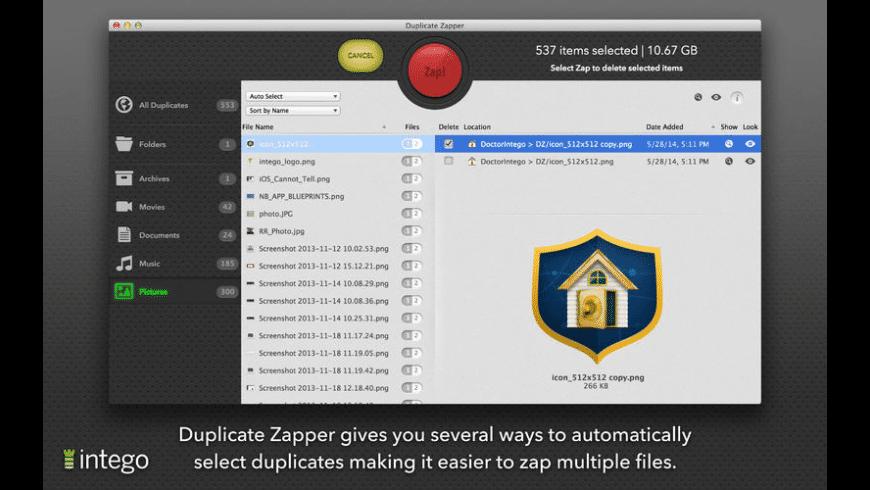 Duplicate Zapper for Mac - review, screenshots