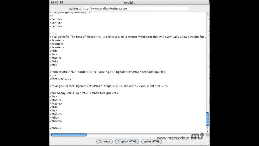 WebEdit for Mac - review, screenshots