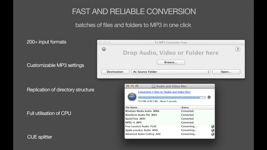 To MP3 Converter Free for Mac - review, screenshots