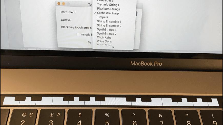 Touch Bar Piano for Mac - review, screenshots