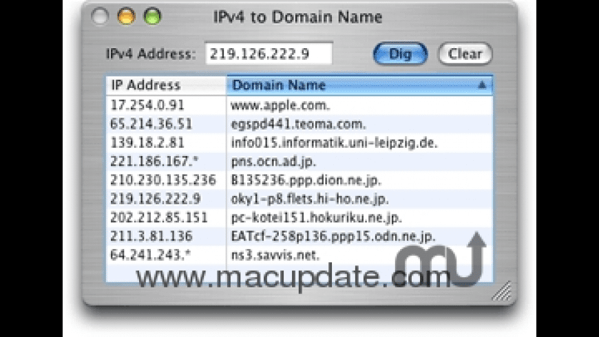 IPv4toDName for Mac - review, screenshots