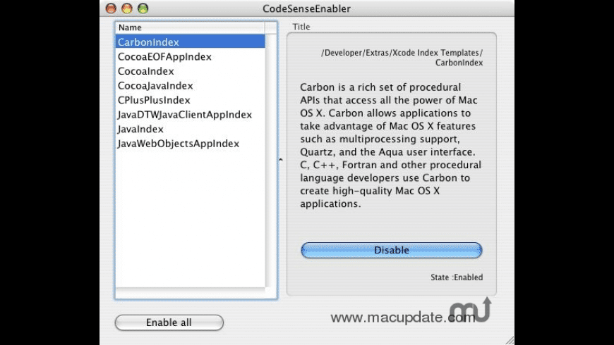 CodeSenseEnabler for Mac - review, screenshots