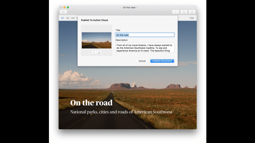 Author for Mac - review, screenshots