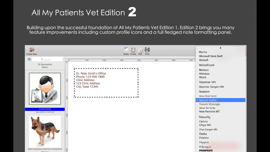 All My Patients Vet Edition 2 for Mac - review, screenshots