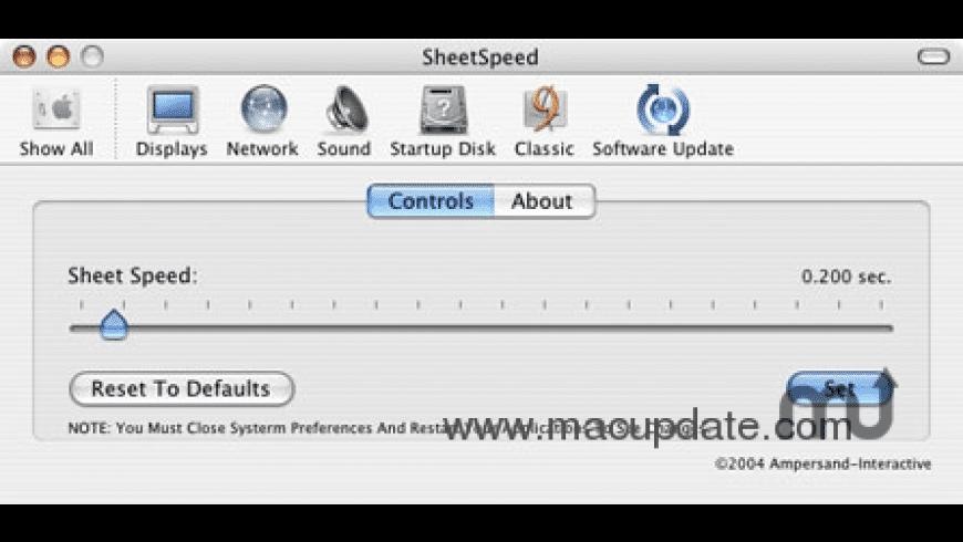 SheetSpeed for Mac - review, screenshots