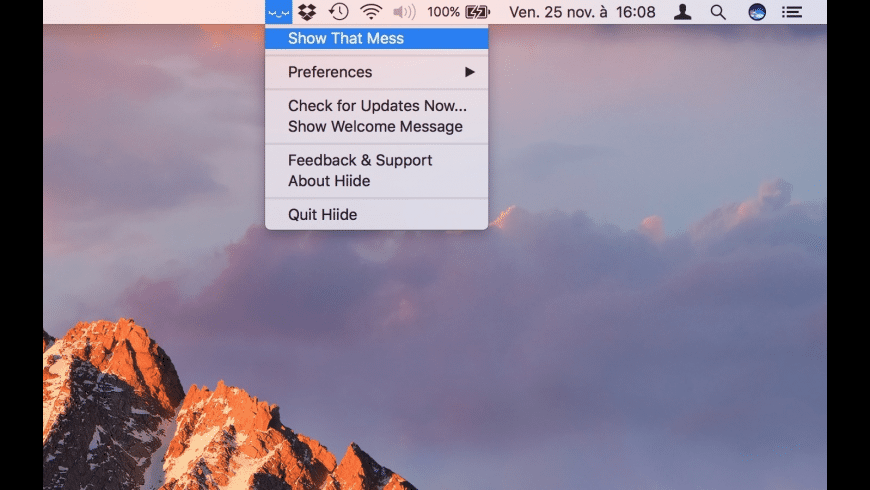 Hiide for Mac - review, screenshots