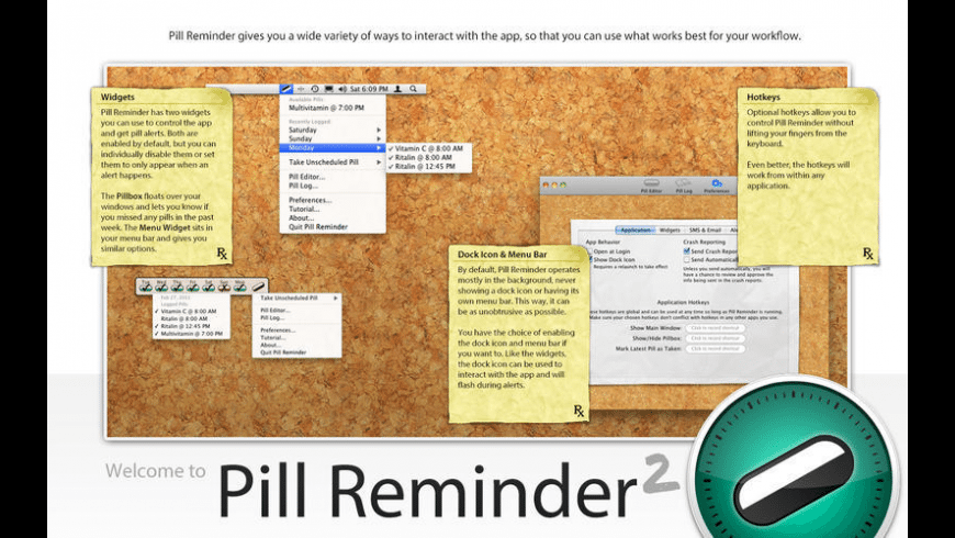 Pill Reminder for Mac - review, screenshots