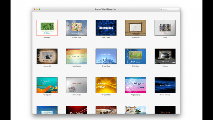 Themes FX for MS PowerPoint for Mac - review, screenshots