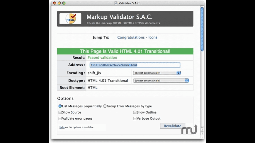 Validator S.A.C. for Mac - review, screenshots