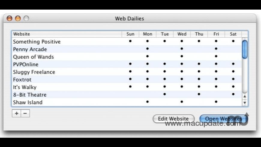 Web Dailies for Mac - review, screenshots