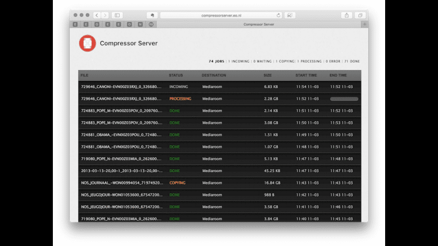 Compressor Server for Mac - review, screenshots