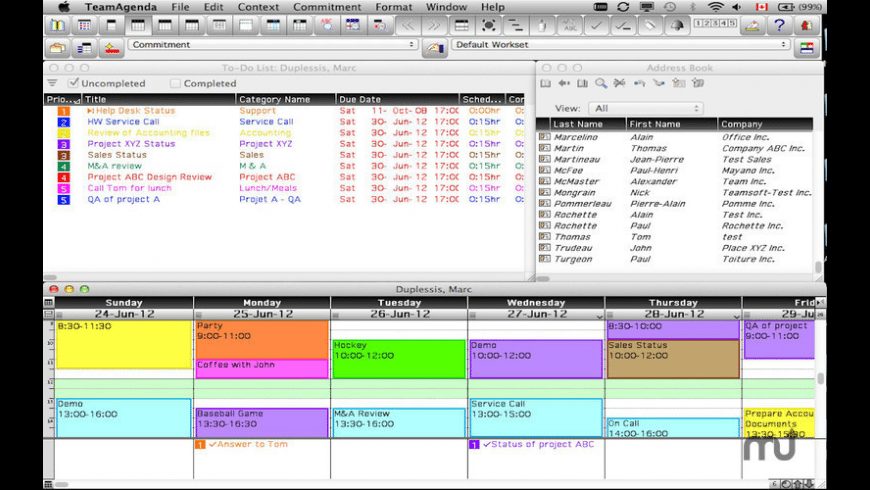 TeamAgenda for Mac - review, screenshots