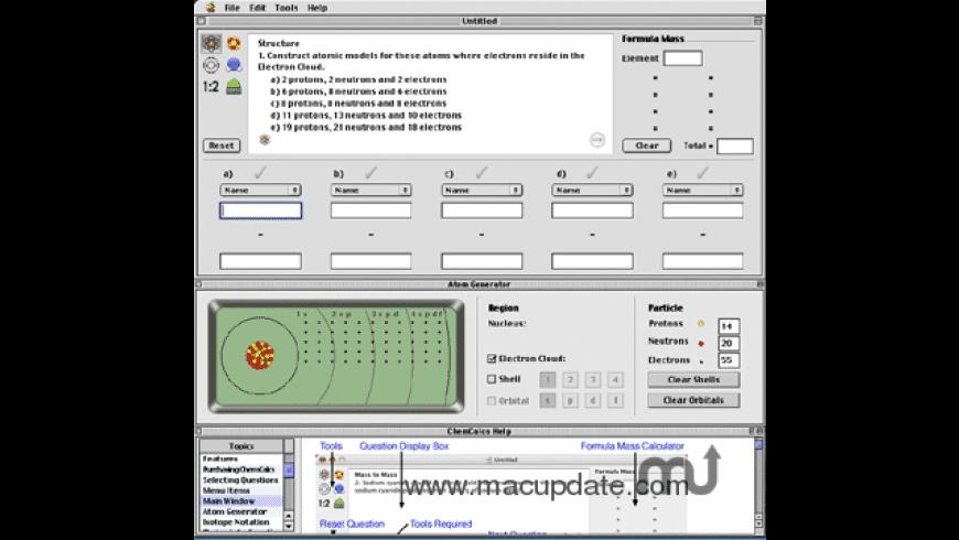 ChemCalcs for Mac - review, screenshots