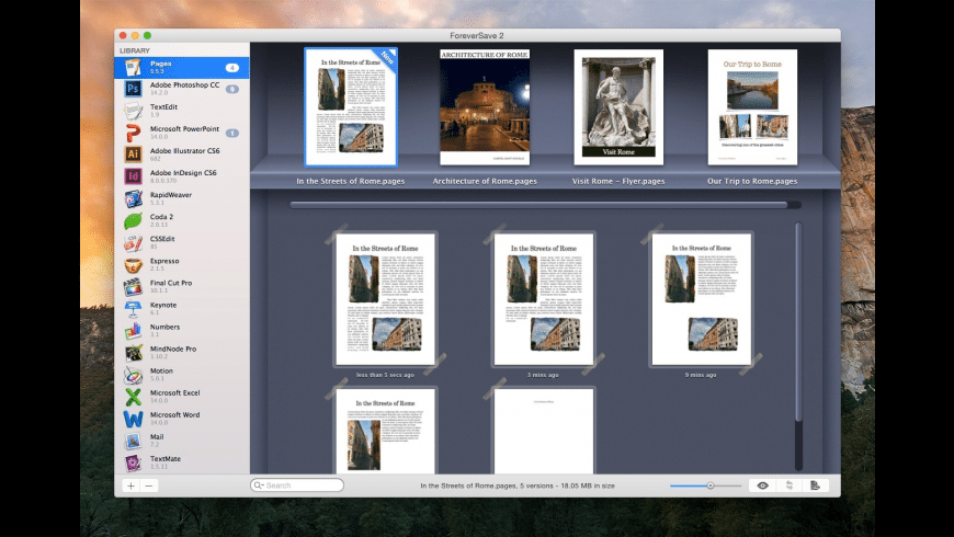 ForeverSave for Mac - review, screenshots