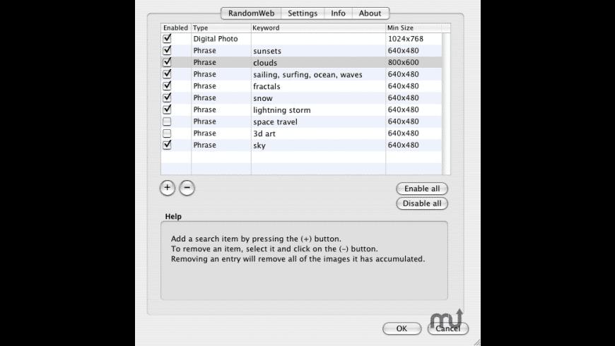 RandomWeb ScreenSaver for Mac - review, screenshots