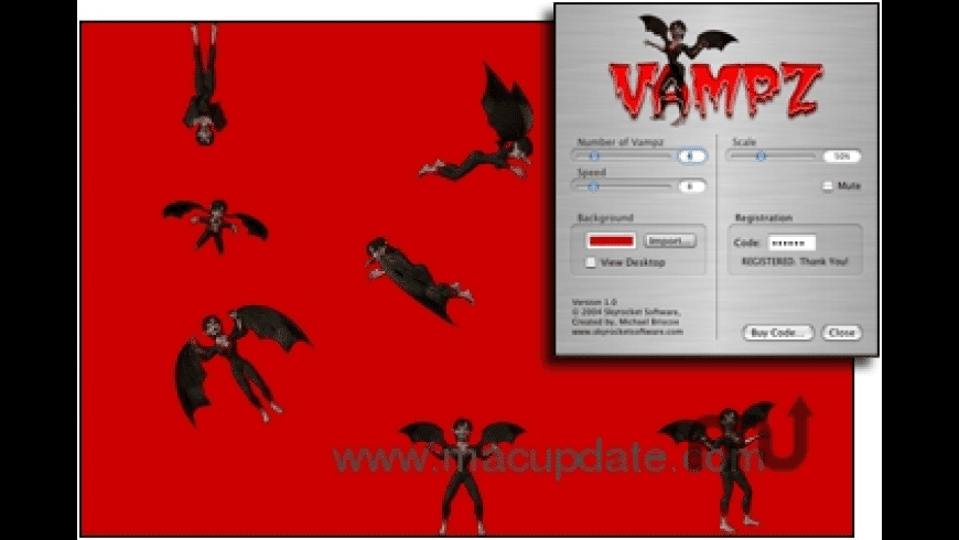 Vampz Screensaver for Mac - review, screenshots