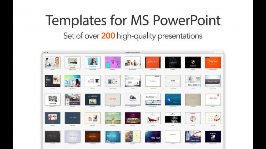 Templates for MS PowerPoint for Mac - review, screenshots