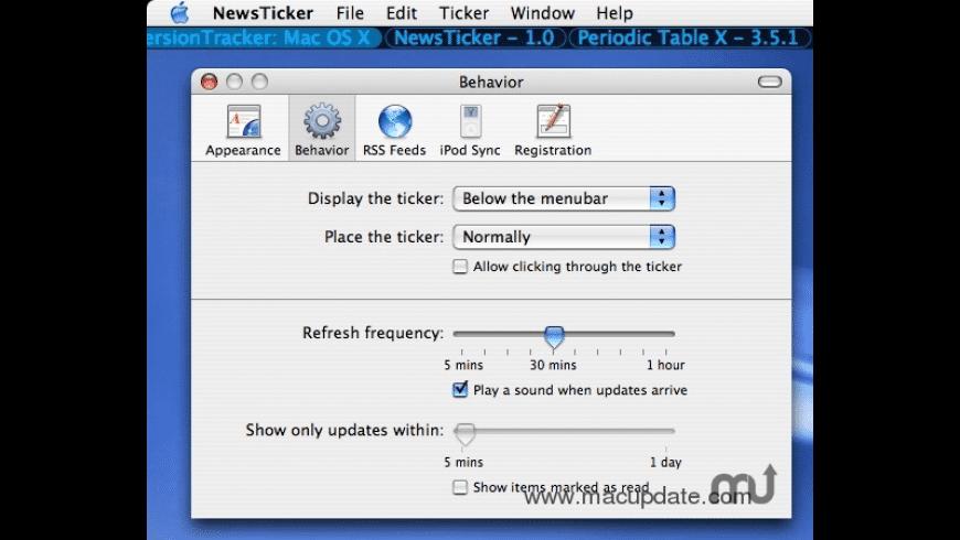 NewsTicker for Mac - review, screenshots