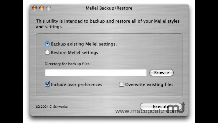 MellelBackup for Mac - review, screenshots