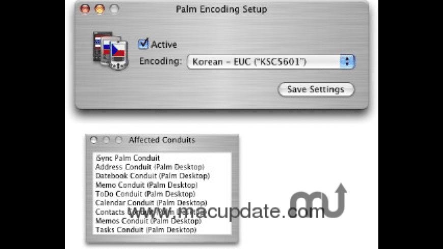 Palm Encoding Setup for Mac - review, screenshots