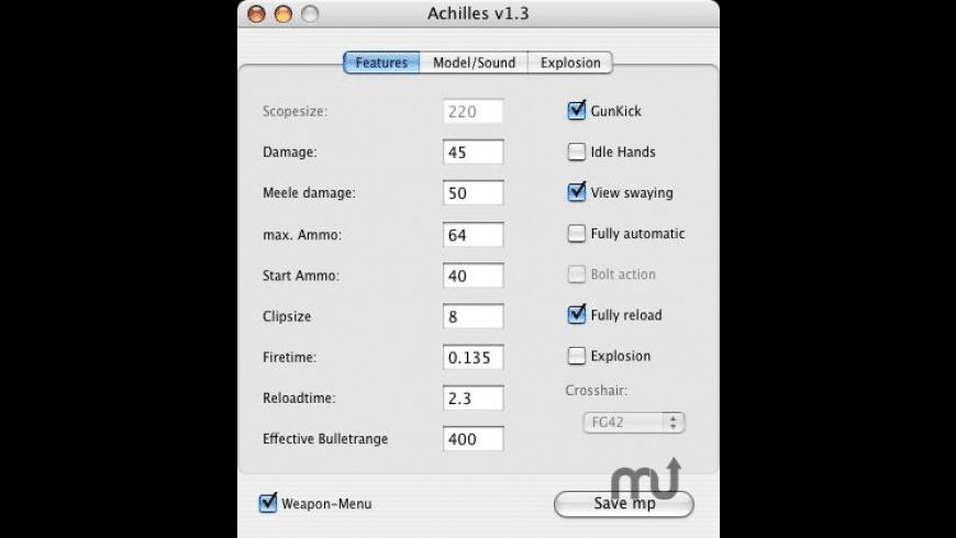 Achilles for Mac - review, screenshots