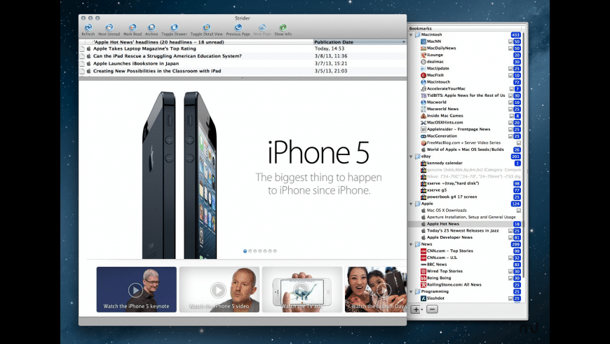 Strider for Mac - review, screenshots
