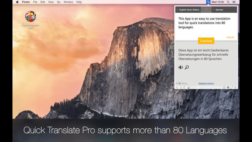 Quick Translate Pro for Mac - review, screenshots